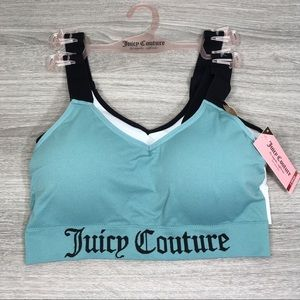 2 juicy couture stretch sports bras